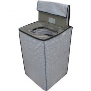 Glassiano Off White Colored Washing Machine Cover For LG T7208TDDLP Fully Automatic Top Load 6.5 Kg