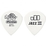 Jim Dunlop 478R150 Tortex Jazz III 1.5mm 72 Guitar Picks Refill bag
