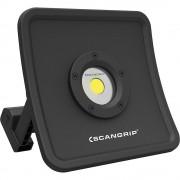 SCANGRIP LED-Baustrahler NOVA R tragbar, mit Akku, Dimmfunktion USB-Powerbank, Magnethalter