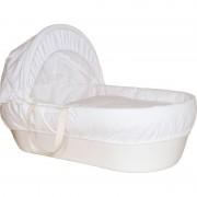 Cos bebelus Shnuggle, material reciclabil, manere din bumbac, Alb