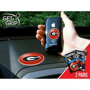 Fan Mats University Of Georgia Get-A-Grips RED/BLACK SMALL 1.5 / LARGE 3 SET (2 PACK)