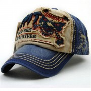 High Quality Baseball Cap Men Women Tiger Head Washed Cotton 5 Panel Snapback Hat Vintage Casquette Unisex Couple Sun Hat