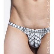 Mategear Kim Bae VI Tapered Sides V Front Maximizer Ultra Bikini Swimwear White Chequered 1260404