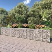 vidaXL horganyzott acél gabion fal fedéllel 600 x 30 x 100 cm