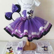 Set Rochiță Tutu - Purple Minnie Mouse