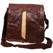 SS Leathers Women Brown Genuine Leather Sling Bag