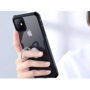 Etui Ring Holder Clear Armor XUNDD do Apple iPhone 11 czarne + szkło 3mk