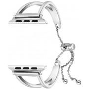 Wotchi Nastavitelný ocelový tah pro Apple Watch Stříbrný 42/44 mm