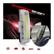 RAYPAL RPL-2263 100 Lumens USB Rechargealbe White COB LED Bike Light With Fixed String