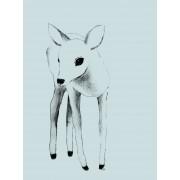 Lilou Lilou Poster Deer 30x40, Grün