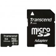Cartão de Memória MicroSDHC Transcend TS8GUSDHC10U1 Ultimate 600x - 8GB