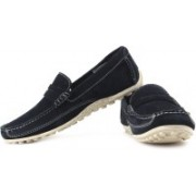 Clarks Royston Court Loafers For Men(Navy, White)