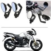 AutoStark 7/8 22cm Motorcycle Rear View Mirrors Handlebar Bar End Mirrors - TVS Apache RTR 180