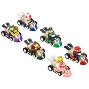 Max Fun 6pcs Mario Kart Cars Pull Backs Figure Set
