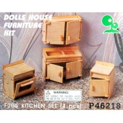Dolls House Furniture for the Kitchen 1:12 Scale Wood Kit