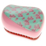 Cosmix Stores Tangle Remover Compact Styler Detangling Brush (Pink Art Bow pattern)