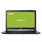 "Лаптоп Acer Aspire 7 A717-72G-77VH (NH.GXDEX.047), шестядрен Coffee Lake Intel Core i7-8750H 2.2/4.1 GHz, 17.3"" (43.94 cm) Full HD IPS Anti-Glare Display & GTX 1050 4GB, (HDMI), 8GB DDR4, 1TB HDD & 256GB SSD, 1x USB 3.1 Type CLinux, 3.0 kg"