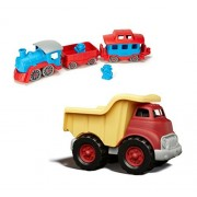 Maven Gifts: Green Toys Train, Blue/Red With Green Toys Dump Truck