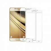 Set 2 folii protectie sticla securizata fullsize pentru Samsung Galaxy C5 / C5 Pro alb