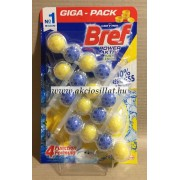 Bref Power Aktiv Juicy Lemon WC Frissítő 4x50gr