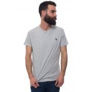 US Polo Assn T-shirt girocollo Grigio medio Cotone Uomo