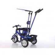 Tricicleta cu parasolar pentru copii albastra