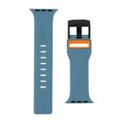 Curea silicon UAG Civilian Strap Apple Watch (42/44mm) Slate/Orange