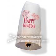 Wensballon 100/50 wit 'Happy New Year'