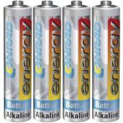 Set 4 baterii alcaline AAA, 1,5 V, Conrad energy