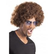 Vegaoo Bruine afro / clown pruik voor volwassenen One Size