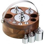 KitchenCraft Gewichts-Set im Holzständer - 1 Set