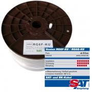 Venton Koax Sat Kabel Venton RG6F-KU 140dB Kupfer 5fach HQ 100m Rolle Koaxialkabel