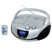 Radio cd mp3 portatil nevir nvr-480ub plata / bluetooth