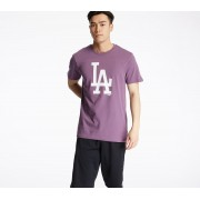 New Era MLB Seasonal Team Logo Los Angeles Dodgers Tee Purple