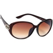 Eyeland Oval Sunglasses(Brown)