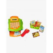 Caixa registadora e acessórios de comerciante vermelho-escuro liso com decor