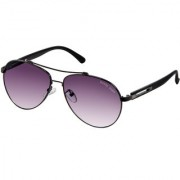 David Blake Grey UV Protected Aviator Sunglass