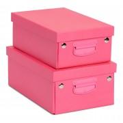 POPP Aufbewahrungsbox Zusammenklappbar, Rosa