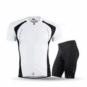 NUCKILY Jersey de manga corta de verano con pantalones cortos - Blanco (XL)