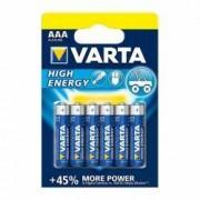 Baterii AAA R3 alcaline 1.5V Varta High Energy set 6 bucati