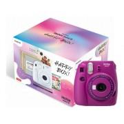 Fujifilm Kit Cámara Instantánea FUJIFILM Instax Mini 9 Clear Happy Box Morado - Obturación: 1/60 s - 2 x AA)