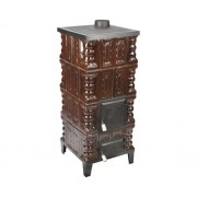 Soba mobila din teracota, pe lemne, cu plita, 7 kW, 108x46,5x46,5 cm