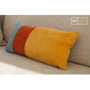 Coussin scandinave tricolore Mathis