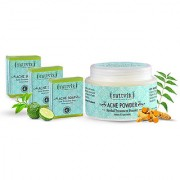 Sattvik Organics Acne Cleansing Kit Spot Treatment With Neem Turmeric Removes Excess Oil Heals Fresh Breakouts
