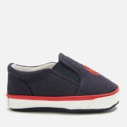 Polo Ralph Lauren Babies' Bal Harbour II Canvas Slip-On Pumps - Navy/Red PP - UK 1.5 Baby/EU 17 - Blue