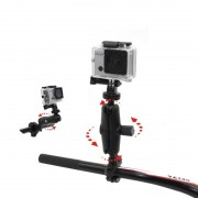 Meco NSTAR Bike Handlebar Mount for Go Pro, SJCAM, XIAOYIMI and Other Action Cameras Shockproof