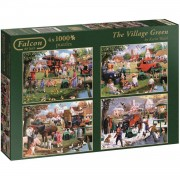 Jumbo Falcon The Village Green 4 puzzels 1000 stukjes