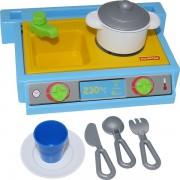 Set mini bucatarie pentru copii cu accesorii 7 piese