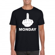 Shoppartners Fuck monday t-shirt zwart voor heren