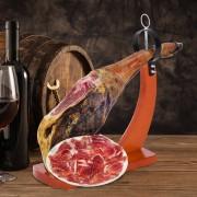 HOMCOM ® Soporte Jamonero Banqueta de Madera 37.5x16.5x40cm